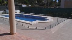 Swimming pool surrounds from Glass Curtains Costa Blanca Murcia