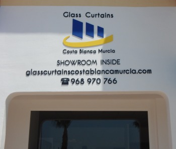 Glass Curtains Costa Blanca Murcia - Showroom