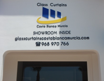 Glass Curtains Costa Blanca Showroom